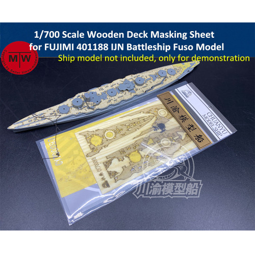 1/700 Scale Wooden Deck Masking Sheet for FUJIMI 401188 IJN Battleship Fuso Model Kit CY700093