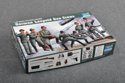 Trumpeter 00406 1/35 Scale German Leopold Gun Grews Soldier Figures Military Plastic Assembly Model Kits