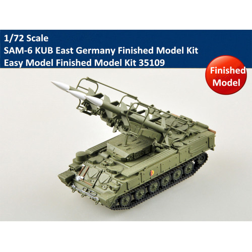 Trumpeter Easy Model 35109 1/72 Scale SAM-6 KUB East Germany Military Plastic Finished Model Kit
