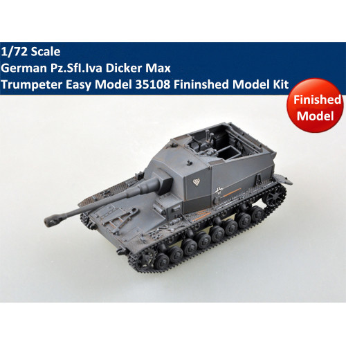 Trumpeter Easy Model 35108 1/72 Scale German Pz.SfI.Iva Dicker Max Plastic Fininshed Model Kit