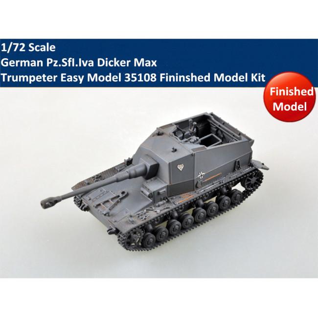Trumpeter Easy Model 35108 1/72 Scale German Pz.SfI.Iva Dicker Max Plastic Fininshed Model Kit