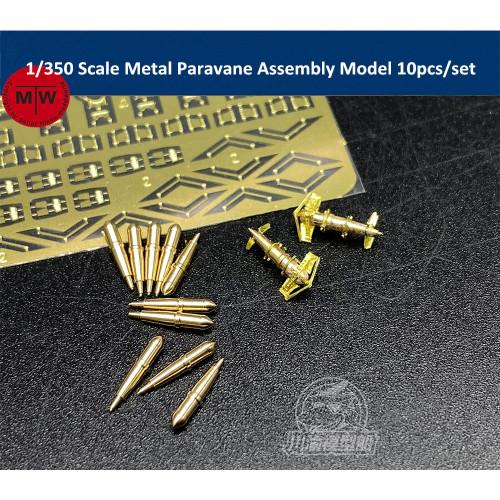 1/200 1/350 Scale Metal Paravane Assembly Model Military Model Ship Accessory 10pcs/set CYG064/CYG065