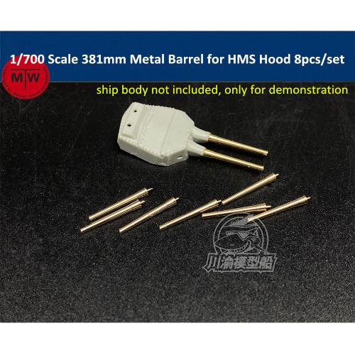 1/700 Scale 381mm Metal Main Barrels for HMS Hood Model Ship 8pcs/set CYG071
