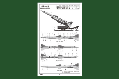 HobbyBoss 82933 1/72 Scale Sam-2 Missile with Launcher Cabin Military Plastic Assembly Model Kit