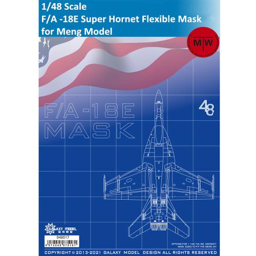 Galaxy D48017 1/48 Scale F/A -18E Super Hornet Die-cut Flexible Mask for Meng Model