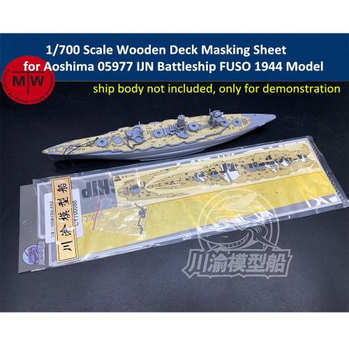 1/700 Scale Wooden Deck Masking Sheet for Aoshima 05977 IJN Battleship Fuso 1944 Model CY700098