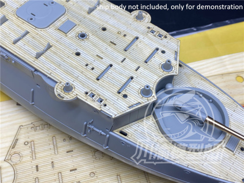 1/144 Scale Wooden Deck Masking Sheet for Bronco KB14005 lmperial Chinese Navy Peiyang Squadron Ping Yuen Model CY14402