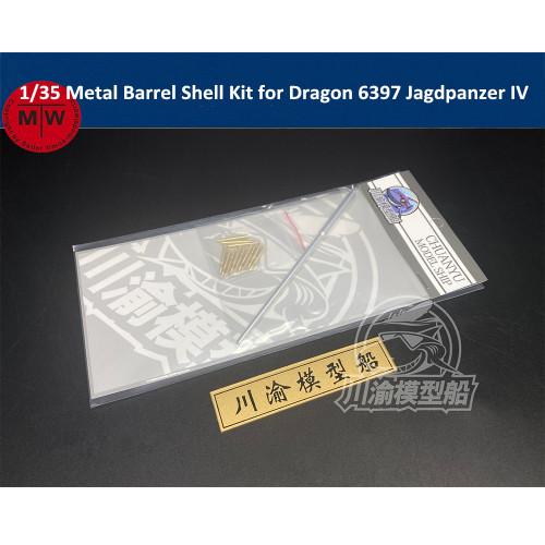 1/35 Scale Metal Barrel Shell Kit for Dragon 6397 Jagdpanzer IV L/70(V) Model Kit CYT051