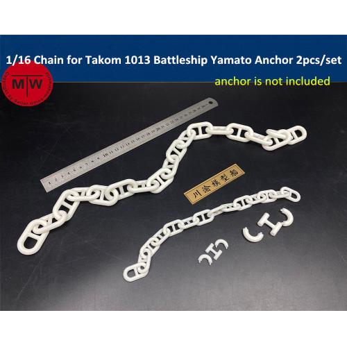 1/16 Scale Chain for Takom 1013 Battleship Yamato Anchor 2pcs/set CYD027