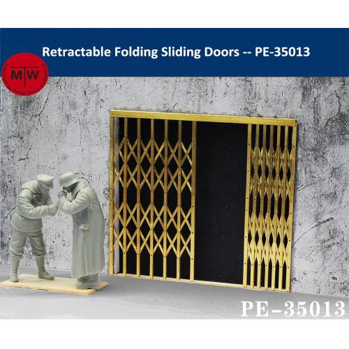 1/35 Scale Retractable Folding Sliding Doors Security Gate Model Scene DIY PE-35013