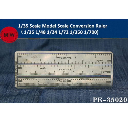 1/35 Scale Model Scale Conversion Ruler(1/35 1/48 1/24 1/72 1/350 1/700)  PE-35020
