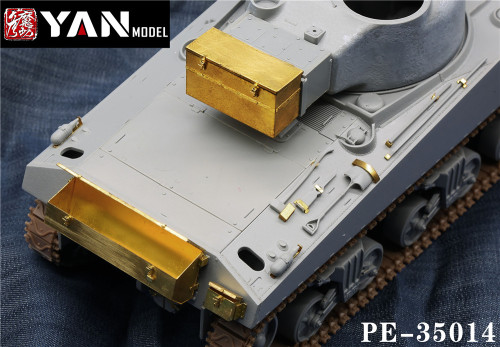 1/35 Scale British Sherman VC Firefly Glove Box and Tools Tank Model Upgrade Set PE-35014
