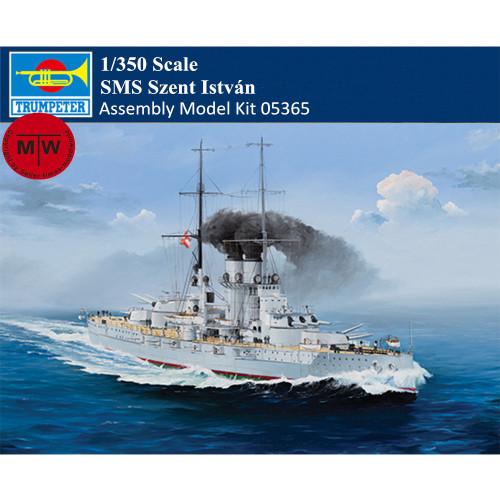 Trumpeter 05365 1/350 Scale SMS Szent István Istvan Military Plastic Assembly Model Kit