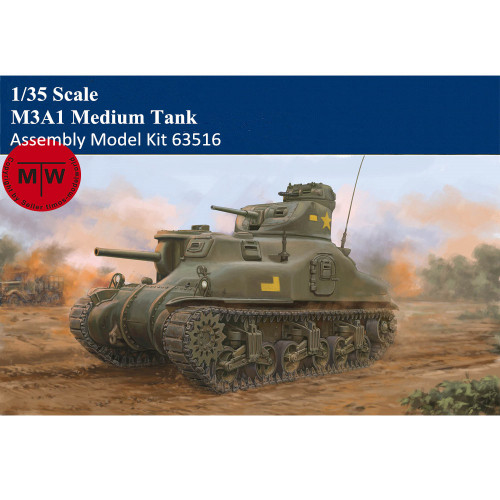 Trumpeter 63516 1/35 Scale M3A1 Medium Tank Military Plastic Assembly Model Kit