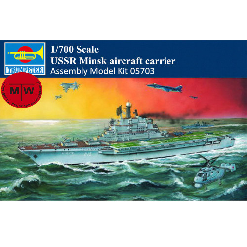 Trumpeter 05703 1/700 Scale USSR Minsk Aircraft Carrier Military Plastic Assembly Model Kit