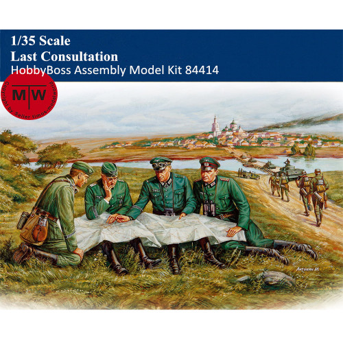 HobbyBoss 84414 1/35 Scale Last Consultation Soldiers Figures Military Plastic Assembly Model Kits