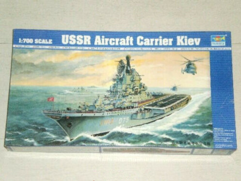 Trumpeter 05704 1/700 Scale USSR Kiev Aircraft Carrier Military Plastic Assembly Model Kit