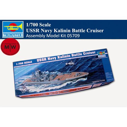 Trumpeter 05709 1/700 Scale USSR Navy Kalinin Battle Cruiser Military Plastic Assembly Model Kit