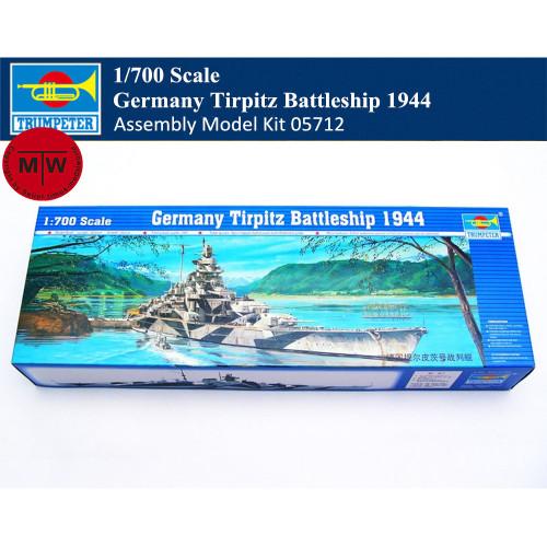 Trumpeter 05712 1/700 Scale Germany Tirpitz Battleship 1944 Military Plastic Assembly Model Kit