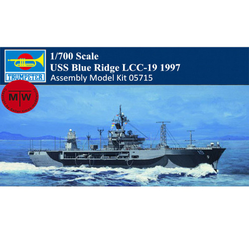 Trumpeter 05715 1/700 Scale USS Blue Ridge LCC-19 1997 Military Plastic Assembly Model Kits