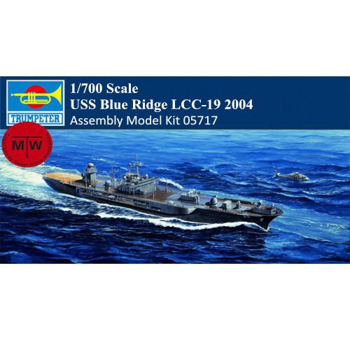 Trumpeter 05717 1/700 Scale USS Blue Ridge LCC-19 2004 Military Plastic Assembly Model Kits