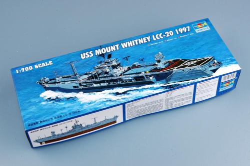 Trumpeter 05719 1/700 Scale USS Mount Whitney LCC-20 1997 Military Plastic Assembly Model Ship Kits