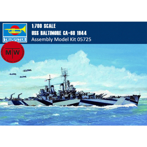 Trumpeter 05725 1/700 Scale USS Baltimore CA-68 1944 Military Plastic Assembly Model Kits