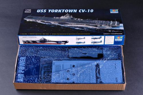 Trumpeter 05729 1/700 Scale USS Yorktown CV-10 Aircraft Carrier Plastic Assembly Model Kits