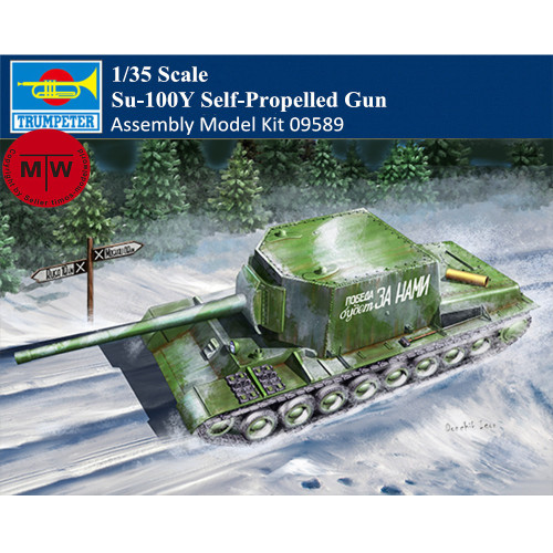 Trumpeter 09589 1/35 Scale Su-100Y Self-Propelled Gun Military Plastic Assembly Model Kit