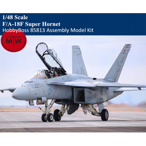 HobbyBoss 85813 1/48 Scale F/A-18F Super Hornet Fighter Military Plastic Aircraft Assembly Model Kit