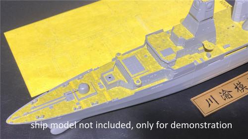 1/350 Scale Main Metal Barrel Masking Sheet for Takom 6001 Sachsen-Class Frigate Model CY350085