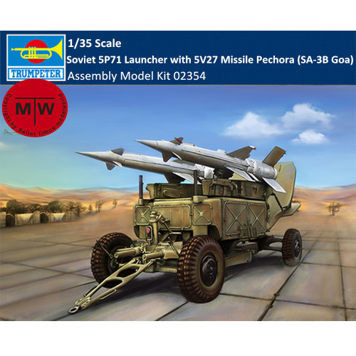 Trumpeter 02354 1/35 Scale Soviet 5P71 Launcher with 5V27 Missile Pechora (SA-3B Goa) Military Plastic Assembly Model Kit