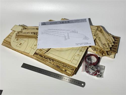 1/350 Scale Zeppelin Hindenburg Airship Factory Shipyard Dockyard Assembly Model Kit for Takom 6003