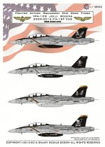 GALAXY Model G72002 1/72 Scale US Navy F/A-18F VFA-103 Jolly Rogers Decal 2009-2015 for Hasegawa Model