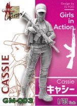 ZLPLA Genuine 1/35 Scale Girls in Action Cassie Resin Figure Assembly Model Kit GM-003