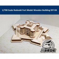 1/700 Redoubt Castle Fort Model Wooden Building Naval Battle Scenes DIY Assembly Model CY707