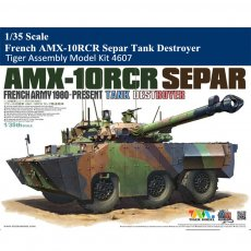 Tiger Model 4607 1/35 Scale French AMX-10RCR Separ Tank Destroyer Military Plastic Assembly Model Kit