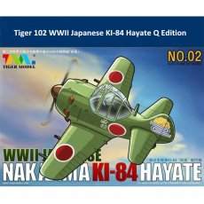 Tiger Model 102 WWII Japanese Nakajima KI-84 Hayate Fighter Cute Series Q Edition Plastic Aircraft Assembly Model Kit