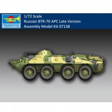 Trumpeter 07138 1/72 Scale Russian BTR-70 APC Late Version Armor Military Plastic Assembly Model Kits