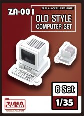 ZLPLA Genuine 1/35 Scale 6 Old Computer Set Accessory Series Resin Assembly Model Kit ZA-001