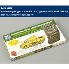 Bronco AB3540 1/35 Scale WWII Panzerkampfwagen V Panther Late Type Workable Track Links Set