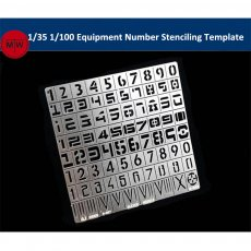 1/35 1/100 Scale Equipment Number Stenciling Template Leakage Spray Plate Tools for Gundam Military Model AJ0026