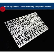 1/35 1/100 Scale Heavy Equipment Letters Stenciling Template Leakage Spray Plate Tool for Gundam Military Model AJ0046
