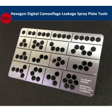 1/35 1/100 Scale Hexagon Digital Camouflage Leakage Spray Plate Tools for Gundam Military Model AJ0015