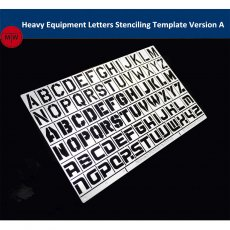 1/35 1/100 Scale Heavy Equipment Letters Stenciling Template Leakage Spray Plate Tool for Gundam Military Model AJ0045