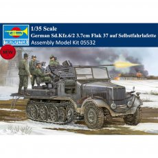 Trumpeter 05532 1/35 Scale German Sd.Kfz.6/2 3.7cm Flak 37 auf Selbstfahrlafette Military Plastic Assembly Model Kits