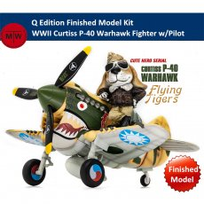 Tiger Model CH001 WWII Curtiss P-40 Warhawk Fighter w/Pilot Q Edition Plastic Finished Model Kits