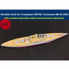 1/700 Scale Wooden Deck for Trumpeter 05781 USS Tennessee BB-43 1941 Ship Model Kit CY700012