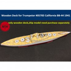 1/700 Scale Wooden Deck for Trumpeter 05783 USS California BB-44 1941 Ship Model Kit CY700013