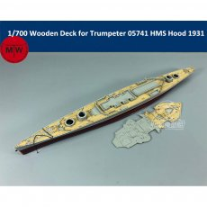 1/700 Scale Wooden Deck for Trumpeter 05741 HMS Battle Cruiser Hood 1931 Model Kit TMW00036
